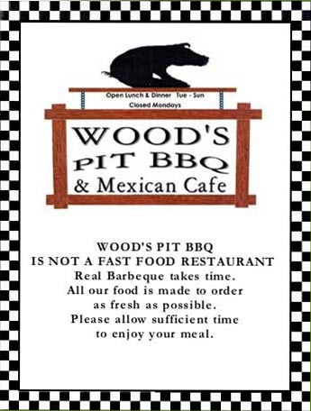 Wood's Pit Barbeque & Mexican Cafe